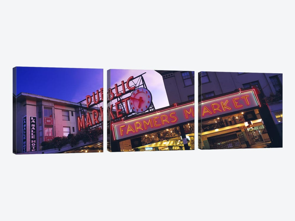 The Public Market Seattle WA USA by Panoramic Images 3-piece Canvas Art