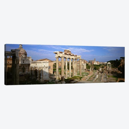 Forum Romanum, Rome, Lazio, Italy Canvas Print #PIM256} by Panoramic Images Canvas Wall Art