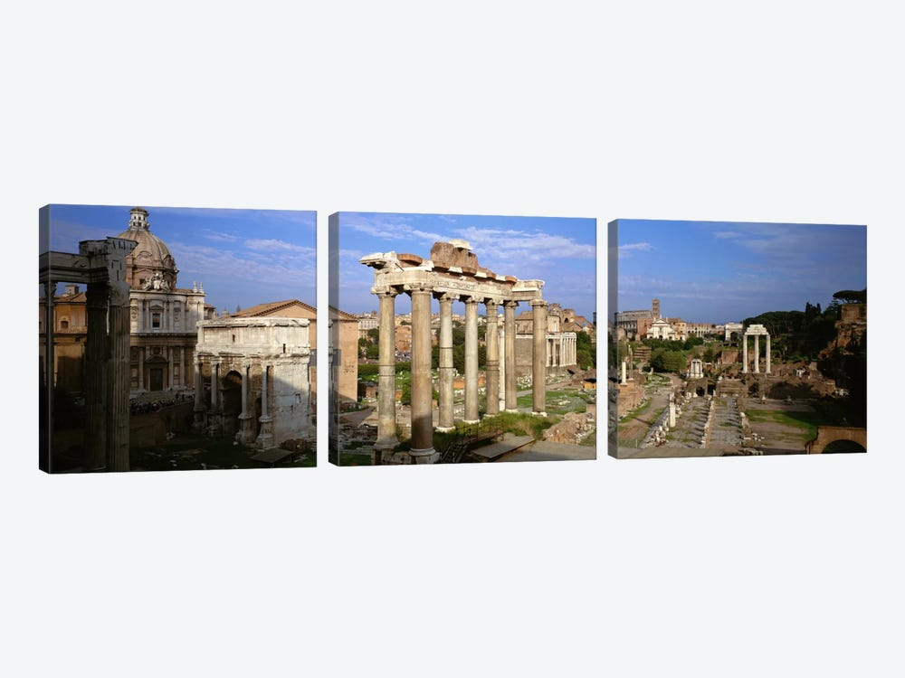 Forum Romanum, Rome, Lazio, Italy by Panoramic Images 3-piece Canvas Wall Art