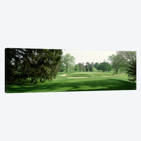Sand trap at a golf course, Baltimore Country Club, Maryland, USA Canvas Print #PIM2571} by Panoramic Images Canvas Art Print