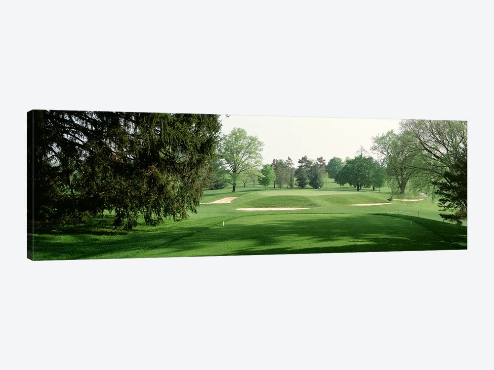 Sand trap at a golf course, Baltimore Country Club, Maryland, USA by Panoramic Images 1-piece Canvas Art