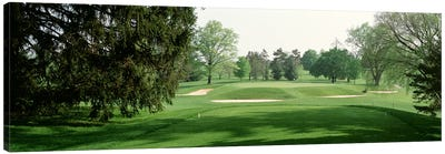 Sand trap at a golf course, Baltimore Country Club, Maryland, USA Canvas Art Print