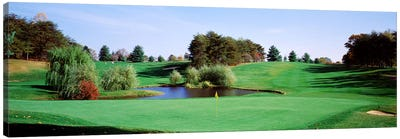 Pond at a golf course, Baltimore Country Club, Baltimore, Maryland, USA Canvas Art Print