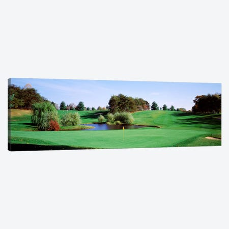Pond at a golf course, Baltimore Country Club, Baltimore, Maryland, USA Canvas Print #PIM2572} by Panoramic Images Canvas Art Print
