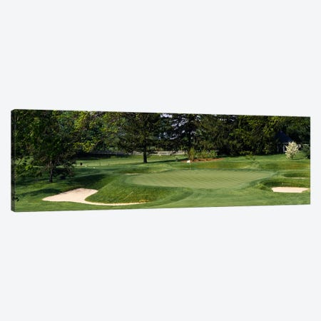 Sand traps on a golf course, Baltimore Country Club, Baltimore, Maryland, USA Canvas Print #PIM2573} by Panoramic Images Canvas Print