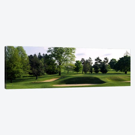 Sand traps on a golf course, Baltimore Country Club, Baltimore, Maryland, USA #2 Canvas Print #PIM2574} by Panoramic Images Canvas Wall Art