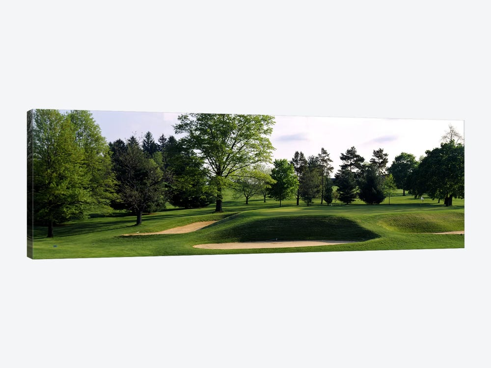 Sand traps on a golf course, Baltimore Country Club, Baltimore, Maryland, USA #2 by Panoramic Images 1-piece Art Print