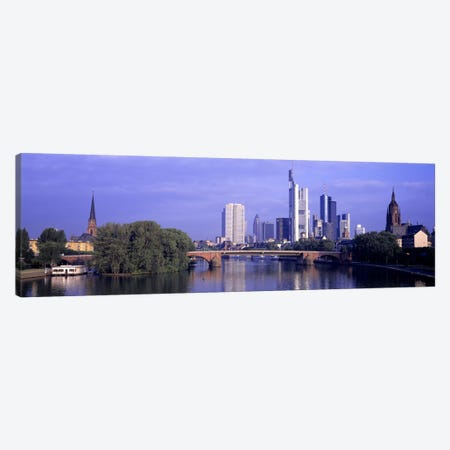 Skyline Main River Frankfurt Germany Canvas Print #PIM2576} by Panoramic Images Canvas Artwork