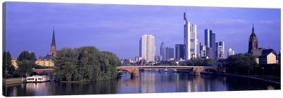 Skyline Main River Frankfurt Germany Canvas Art Print