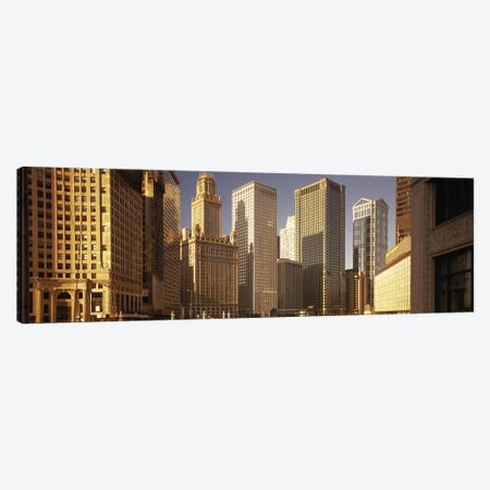 Cityscape Chicago IL USA Canvas Print #PIM2580} by Panoramic Images Canvas Wall Art