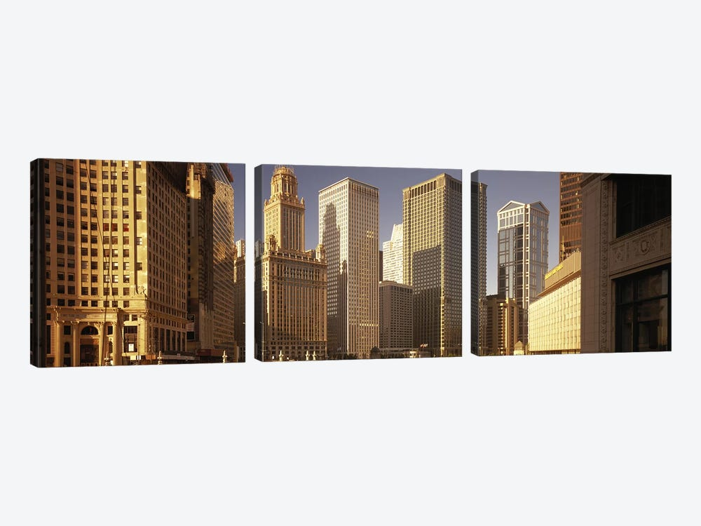 Cityscape Chicago IL USA by Panoramic Images 3-piece Canvas Wall Art