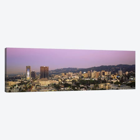 High angle view of a cityscape, Hollywood Hills, City of Los Angeles, California, USA Canvas Print #PIM2581} by Panoramic Images Canvas Artwork