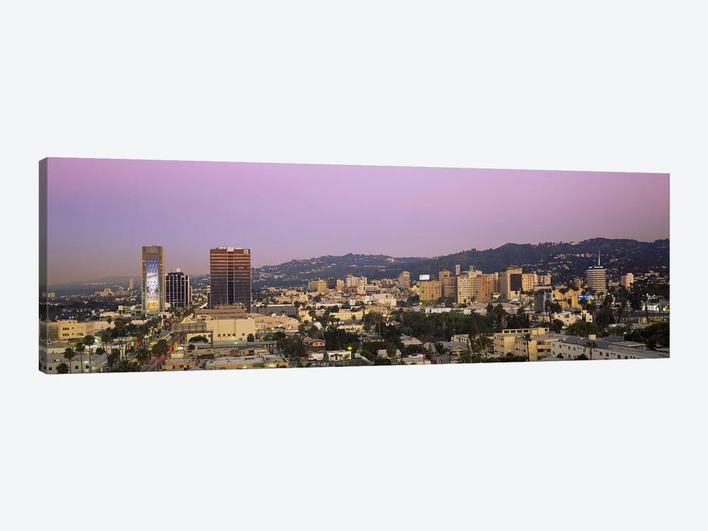 High angle view of a cityscape, Hollywood Hills, City of Los Angeles, California, USA by Panoramic Images 1-piece Art Print