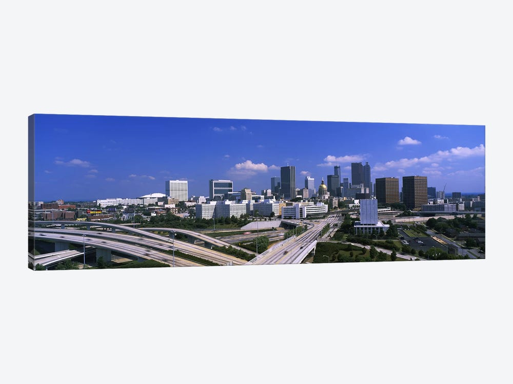 High angle view of elevated roads with buildings in the background, Atlanta, Georgia, USA by Panoramic Images 1-piece Canvas Art Print