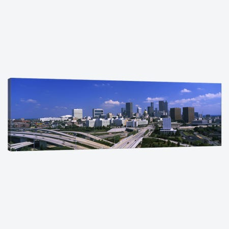 High angle view of elevated roads with buildings in the background, Atlanta, Georgia, USA Canvas Print #PIM2583} by Panoramic Images Canvas Artwork