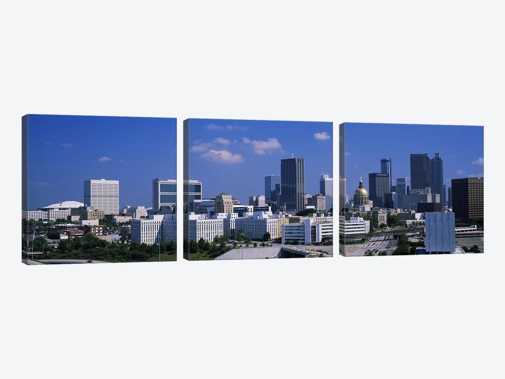 Skyscrapers in a city, Atlanta, Georgia, USA #3 by Panoramic Images 3-piece Canvas Wall Art