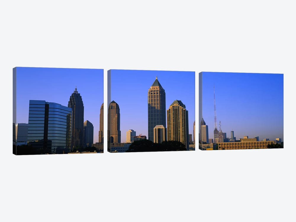 Buildings in a city, Atlanta, Georgia, USA by Panoramic Images 3-piece Canvas Art Print