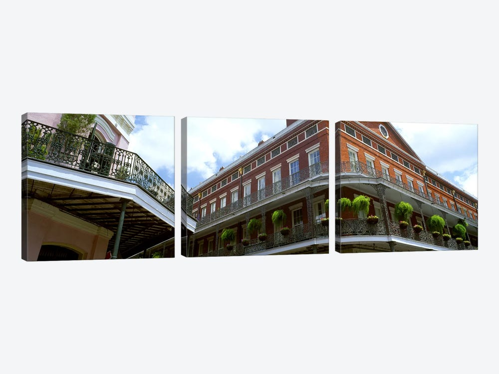 Wrought Iron Balcony New Orleans LA USA by Panoramic Images 3-piece Canvas Artwork