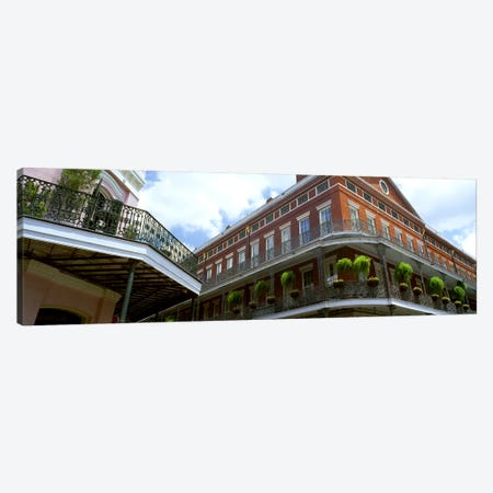 Wrought Iron Balcony New Orleans LA USA Canvas Print #PIM2586} by Panoramic Images Art Print