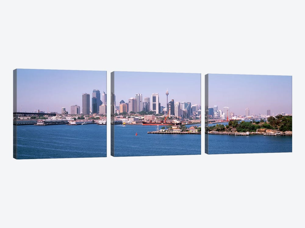 Skyline Sydney Australia 3-piece Canvas Wall Art