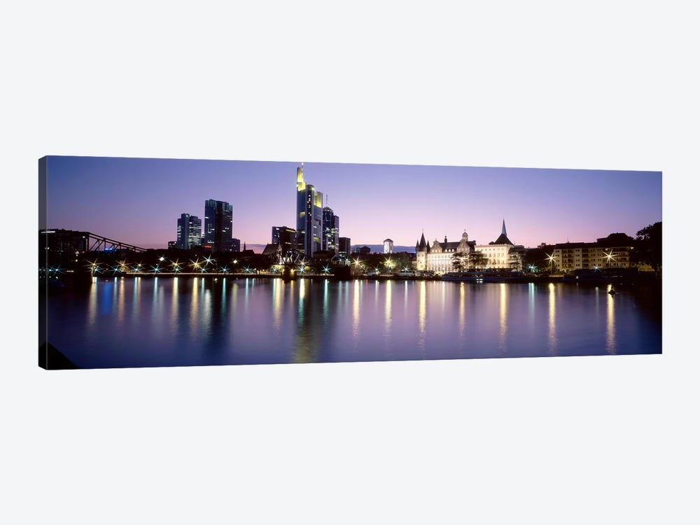 An Evening's Sparkle, Frankfurt, Germany by Panoramic Images 1-piece Canvas Print