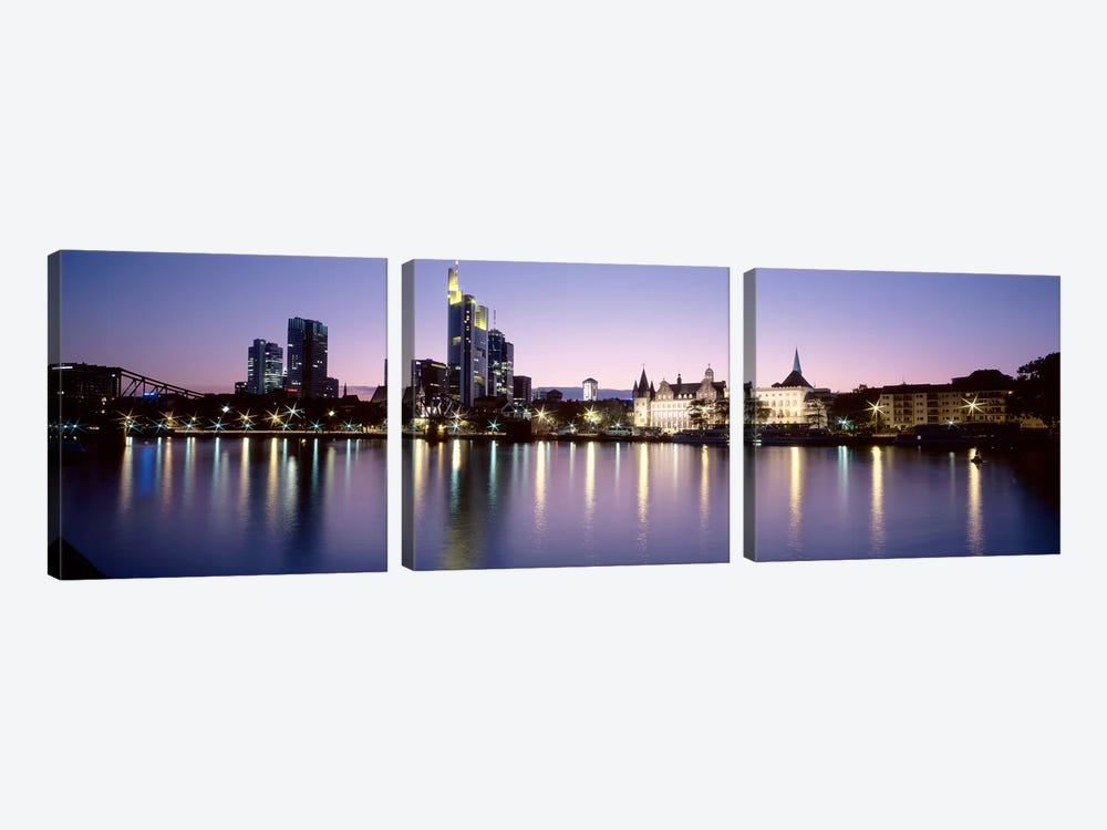An Evening's Sparkle, Frankfurt, Germany by Panoramic Images 3-piece Art Print