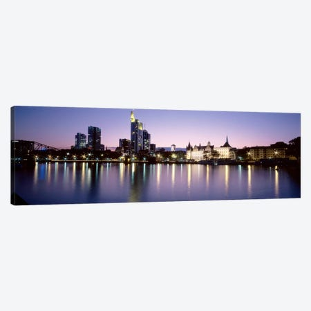 An Evening's Sparkle, Frankfurt, Germany Canvas Print #PIM2590} by Panoramic Images Canvas Art Print