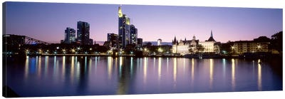 An Evening's Sparkle, Frankfurt, Germany Canvas Art Print