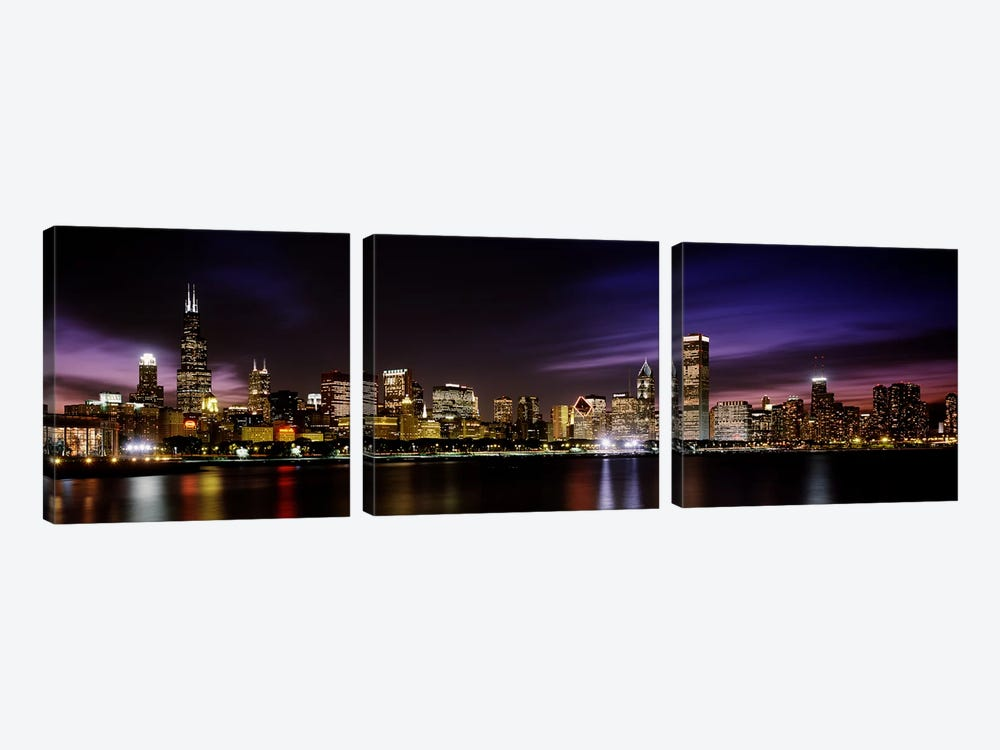 Downtown Skyline III, Chicago, Illinois, USA by Panoramic Images 3-piece Canvas Wall Art