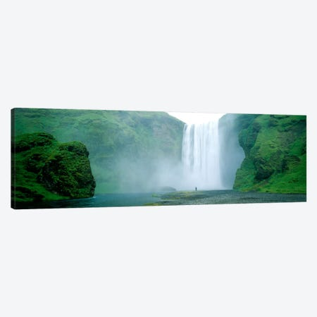 Lone Admirer, Skogafoss, Iceland Canvas Print #PIM259} by Panoramic Images Art Print