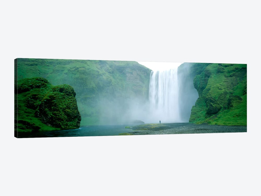 Lone Admirer, Skogafoss, Iceland by Panoramic Images 1-piece Art Print