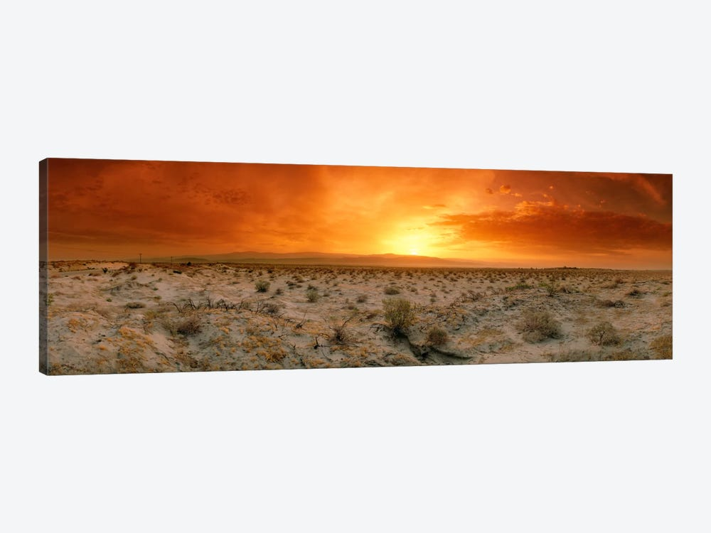 Desert Sunset, Palm Springs, Riverside County, California, USA by Panoramic Images 1-piece Art Print