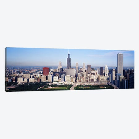 Aerial view of buildings in a city, Chicago, Illinois, USA Canvas Print #PIM2600} by Panoramic Images Canvas Art Print
