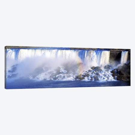 Fading Rainbow, American Falls & Bridal Veil Falls (Niagara Falls), New York, USA Canvas Print #PIM2606} by Panoramic Images Canvas Wall Art