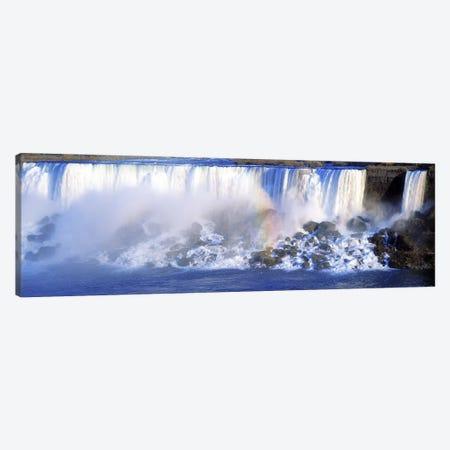 Fading Rainbow, American Falls & Bridal Veil Falls (Niagara Falls), New York, USA Canvas Print #PIM2606} by Panoramic Images Canvas Wall Art