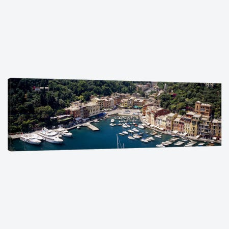 Aerial View Of The Harbour, Portofino, Genoa, Italian Riviera, Italy Canvas Print #PIM2613} by Panoramic Images Canvas Art