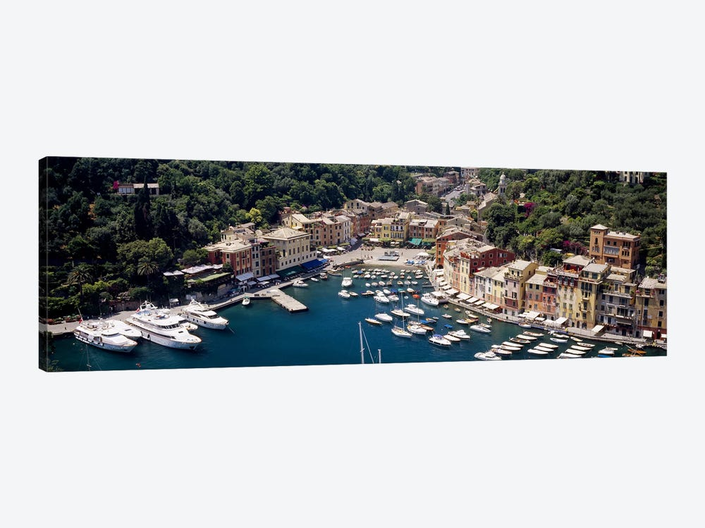 Aerial View Of The Harbour, Portofino, Genoa, Italian Riviera, Italy by Panoramic Images 1-piece Canvas Artwork