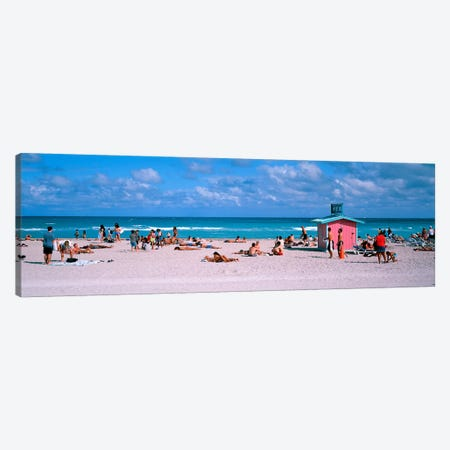 Tourist on the beachMiami, Florida, USA Canvas Print #PIM2617} by Panoramic Images Canvas Print