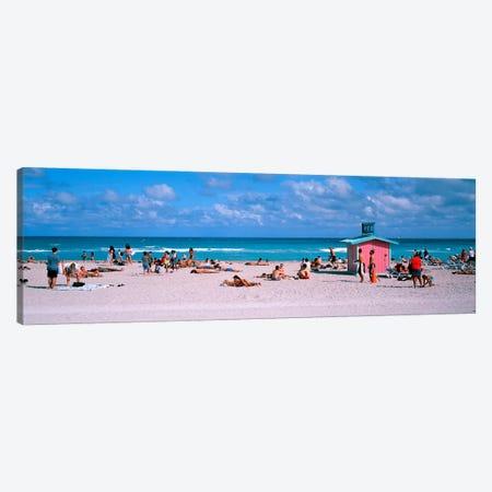 Tourist on the beachMiami, Florida, USA Canvas Print #PIM2617} by Panoramic Images Canvas Print