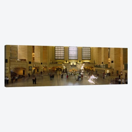 Group of people in a subway stationGrand Central Station, Manhattan, New York City, New York State, USA Canvas Print #PIM2618} by Panoramic Images Canvas Artwork
