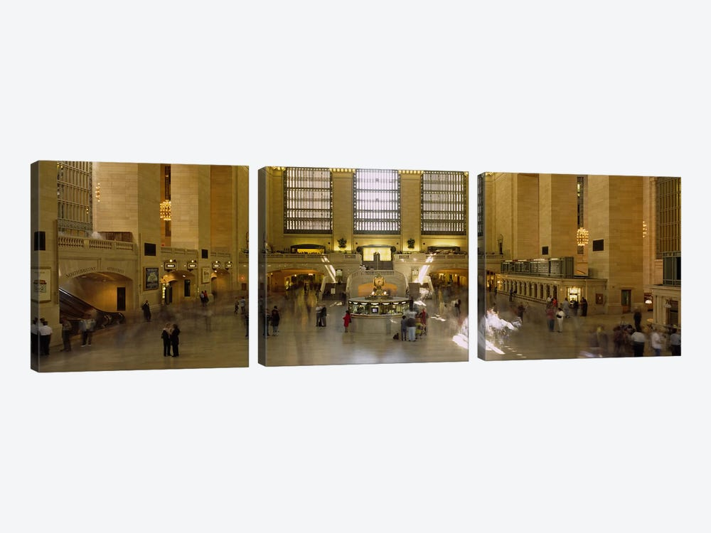 Group of people in a subway stationGrand Central Station, Manhattan, New York City, New York State, USA by Panoramic Images 3-piece Canvas Print