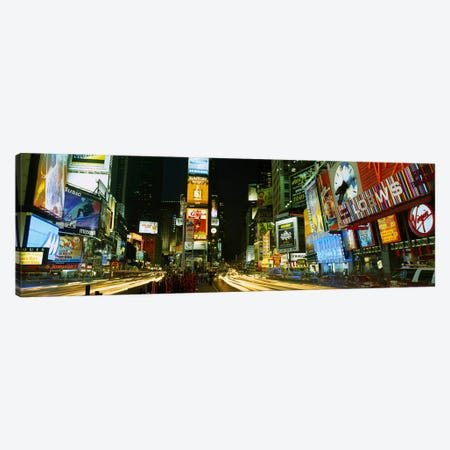 Neon boards in a city lit up at nightTimes Square, New York City, New York State, USA Canvas Print #PIM2619} by Panoramic Images Canvas Artwork