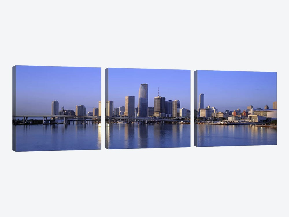 Skyline Miami FL USA by Panoramic Images 3-piece Art Print