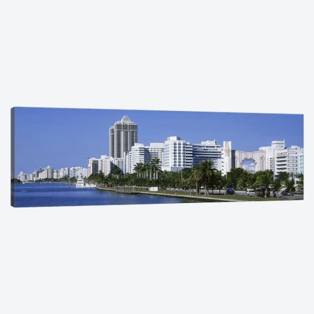 USAFlorida, Miami, Miami Beach, Panoramic view of waterfront, & skyline Canvas Print #PIM2627} by Panoramic Images Canvas Artwork