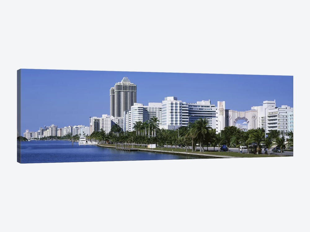 USAFlorida, Miami, Miami Beach, Panoramic view of waterfront, & skyline by Panoramic Images 1-piece Art Print