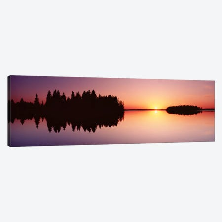 Canada, Alberta, Elk Island National Park Canvas Print #PIM262} by Panoramic Images Canvas Wall Art