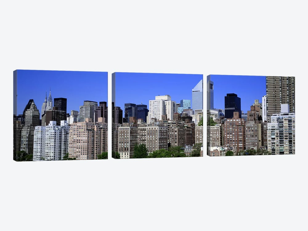 QueensNYC, New York City, New York State, USA by Panoramic Images 3-piece Canvas Art Print