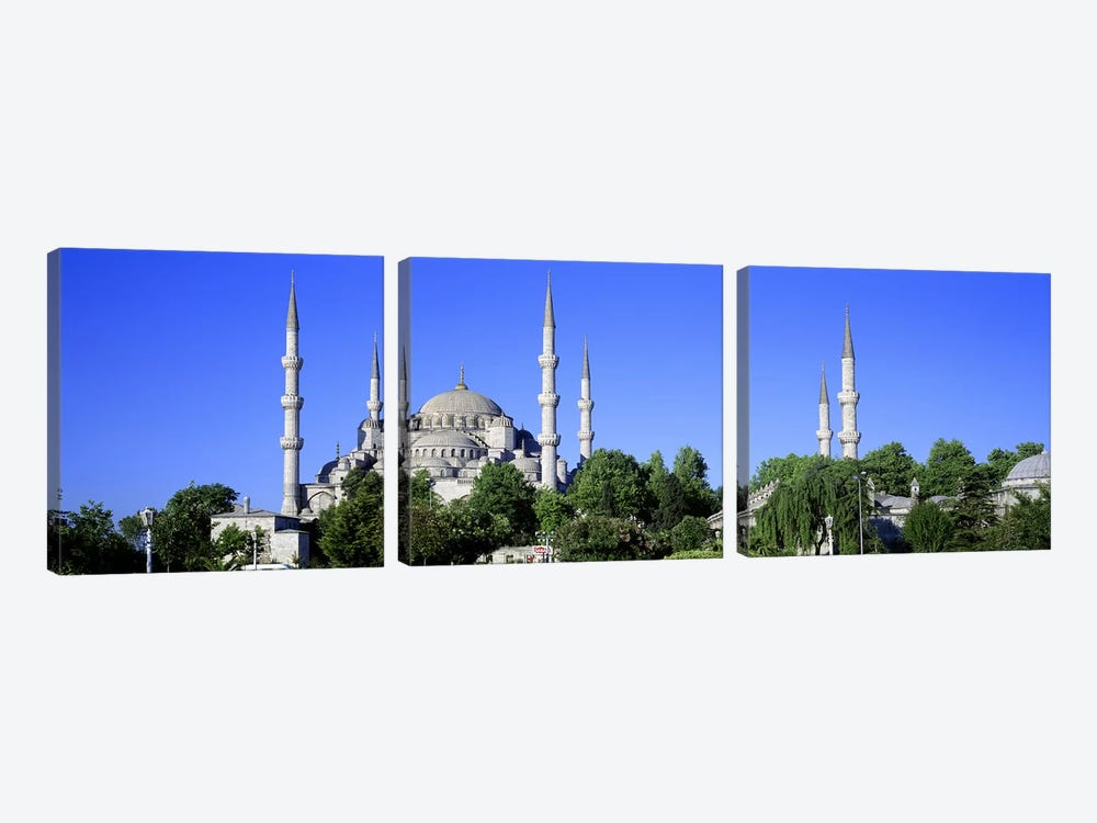 Blue Mosque Istanbul Turkey by Panoramic Images 3-piece Canvas Wall Art