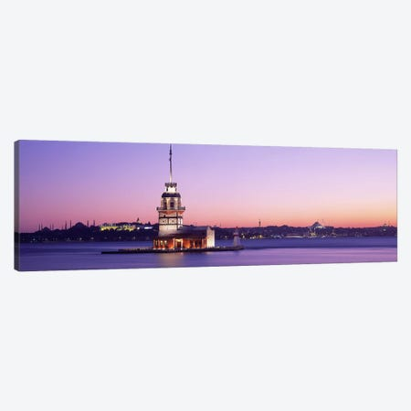 Sunset Lighthouse Istanbul Turkey Canvas Print #PIM2632} by Panoramic Images Canvas Wall Art