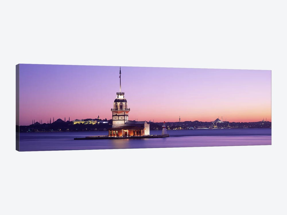 Sunset Lighthouse Istanbul Turkey by Panoramic Images 1-piece Canvas Art Print